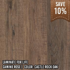 Laminate for Life__Camino Rose__Castle Rock Oak