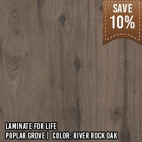 Laminate for Life__Poplar Grove__River Rock Oak