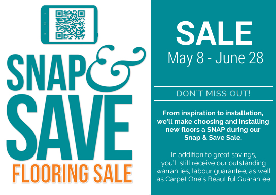 Snap and Save Flooring Sale on May 8 - June 28, 2015 at Pacific Coast Floors