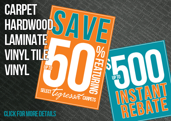 Snap and Save Flooring Sale | Save up to 50% on select carpet and up to $500 on other products