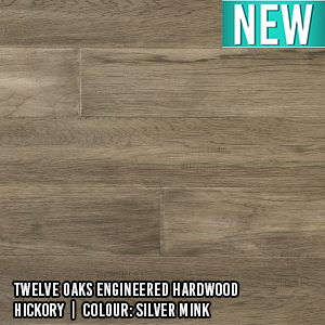 Twelve Oaks Engineered Hardwood | Antique Perspective | Hickory | Colour: Silver Mink