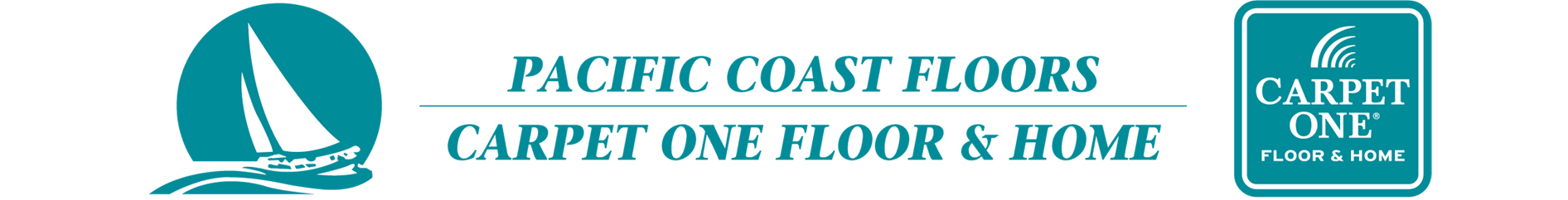 Pacific Coast Floors Carpet One Retina Logo