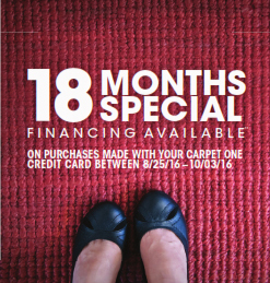 Where Do You Stand | 18 Months Special Financing