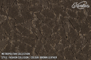Karastan Metropolitan Collection Fashion Collision Color-BrownLeather